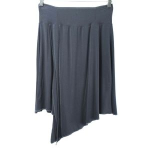 MonNom Artwear Blue-Gray Asymmetrical Sienna Skirt
